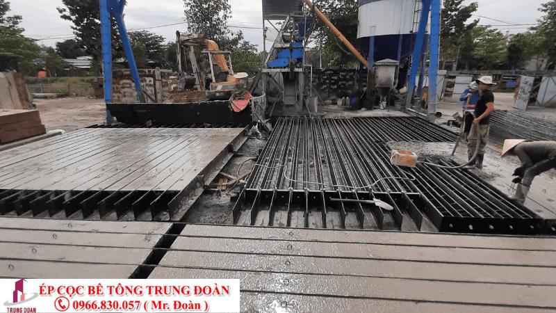 Công xưởng sản xuất cọc bê tông của Trung Đoàn tại Đồng Nai