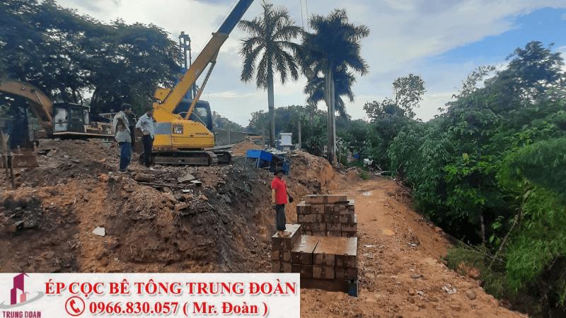 ép cọc bể tông tại Chơn Thành tỉnh Bình Phước
